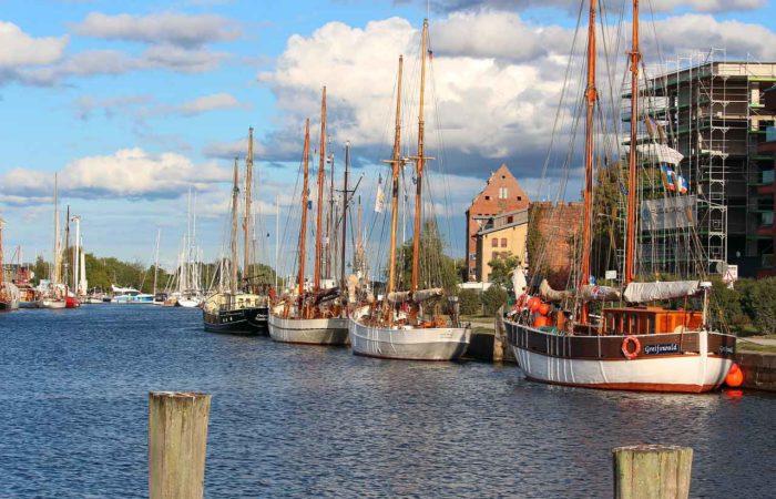Der Hafen in Greifswald